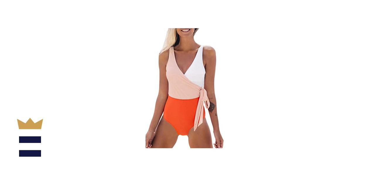 One Piece Swimsuit Wrap