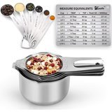 1Easylife Stainless Steel Measuring Cups and Spoons