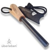 uberleben Bushcraft Fire Steel with Wood Handle