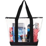 Bags for Less Clear Stadium Security Travel & Gym Zippered Tote Bag