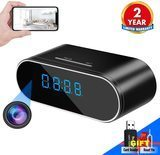 WEMLB 1080P WiFi Hidden Camera Alarm Clock