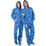 Footed Pajamas It's a Snow Day - Adult Fleece