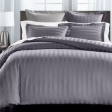 "Charter Club Damask 1.5"" Stripe Supima Cotton 550-Thread Count Duvet Set"
