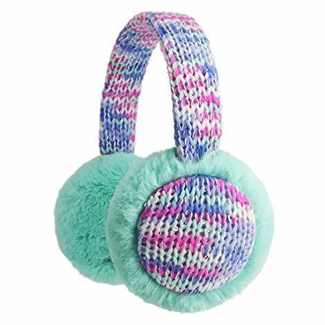 Kids Knitted Earmuffs with Animal Pattern Girls and Boys Earmuffs